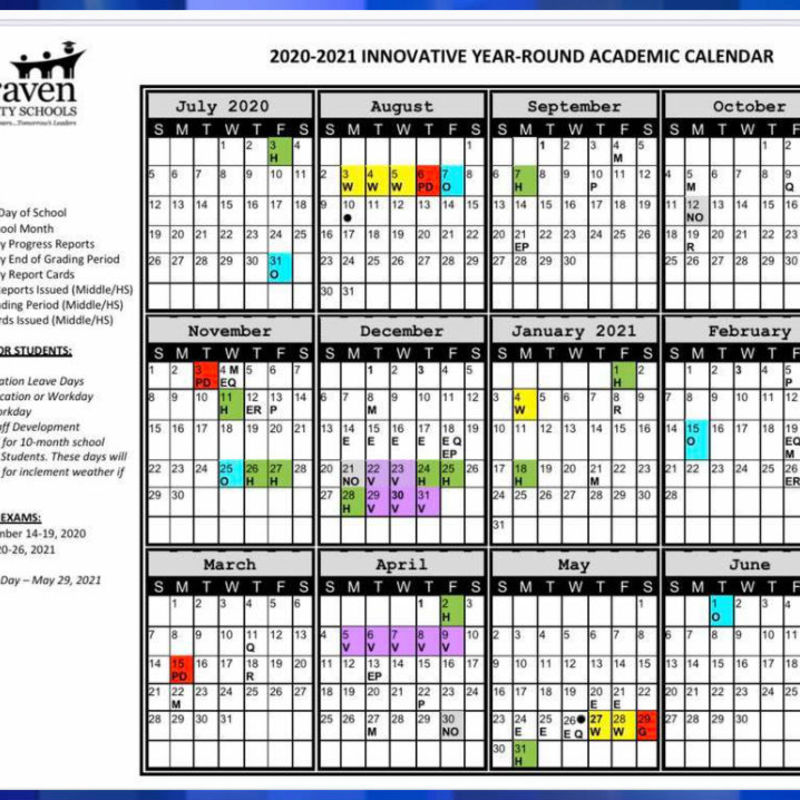 Craven County School Calendar Craven County Schools adopts 'innovative year round' calendar   WCTI