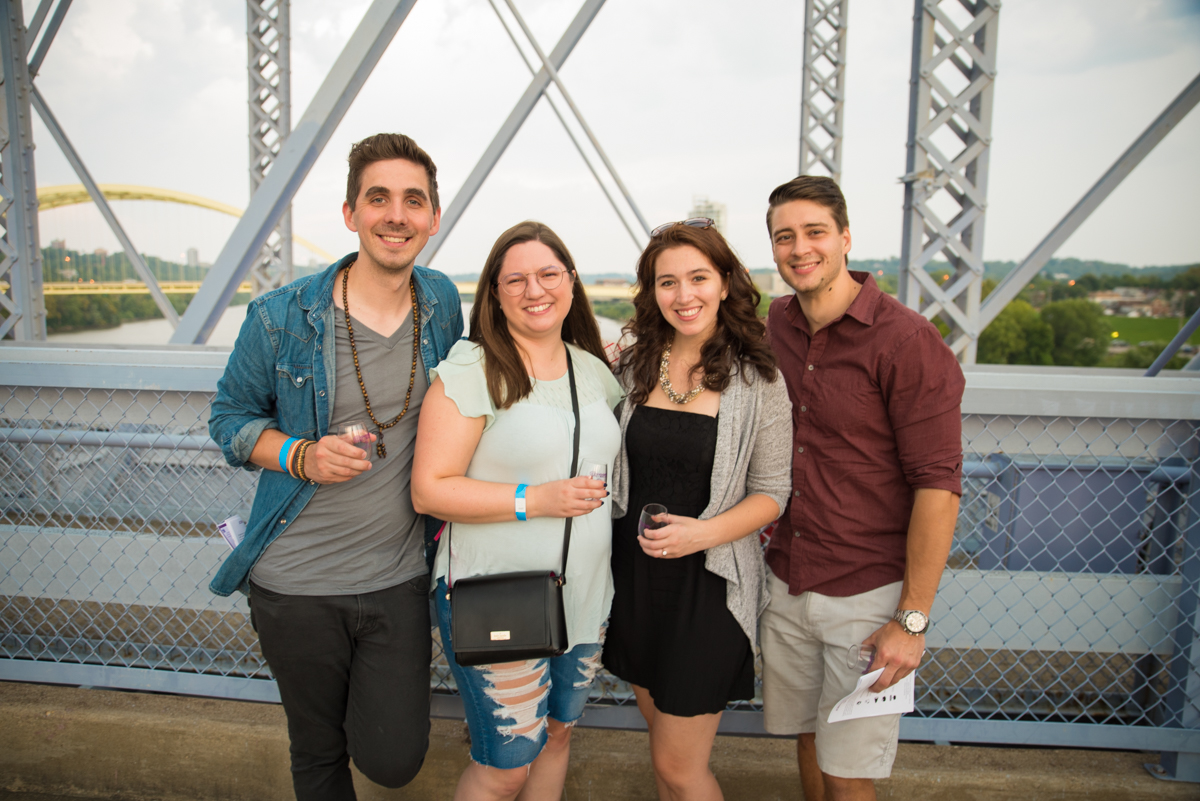 Jordan & Katelyn Browning with Casie Wiley and Joey Grzelak from Wine over Water / Image: Sherry Lachelle Photography // Published: 9.2.18