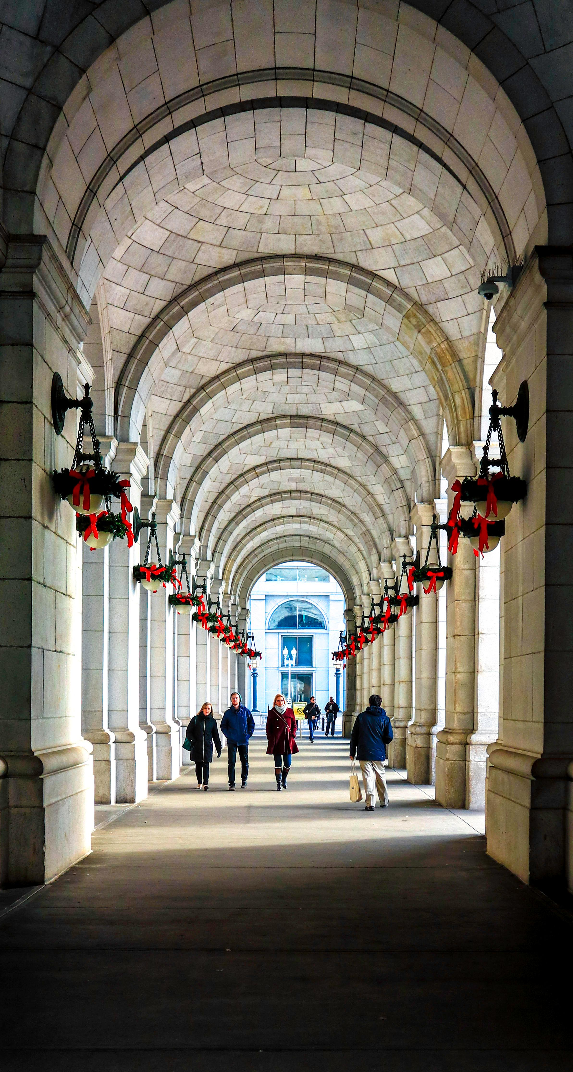 The walkway at Union Station. Taken after getting off the train from Princeton for the holidays. Taken December, 2016. (Image: Adam Brockett)