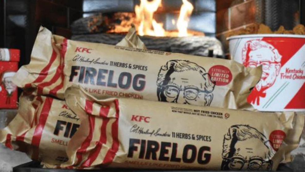 Kfc Selling Firelog That Smells Like Fried Chicken Wrgb