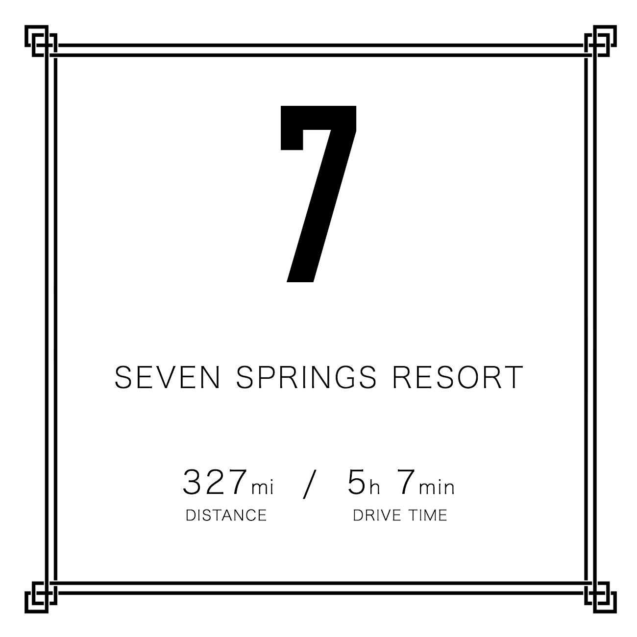 7. Seven Springs Resort / DISTANCE: 327 miles / DRIVE TIME: 5 hour 7 minutes / PUBLISHED: 12.4.16