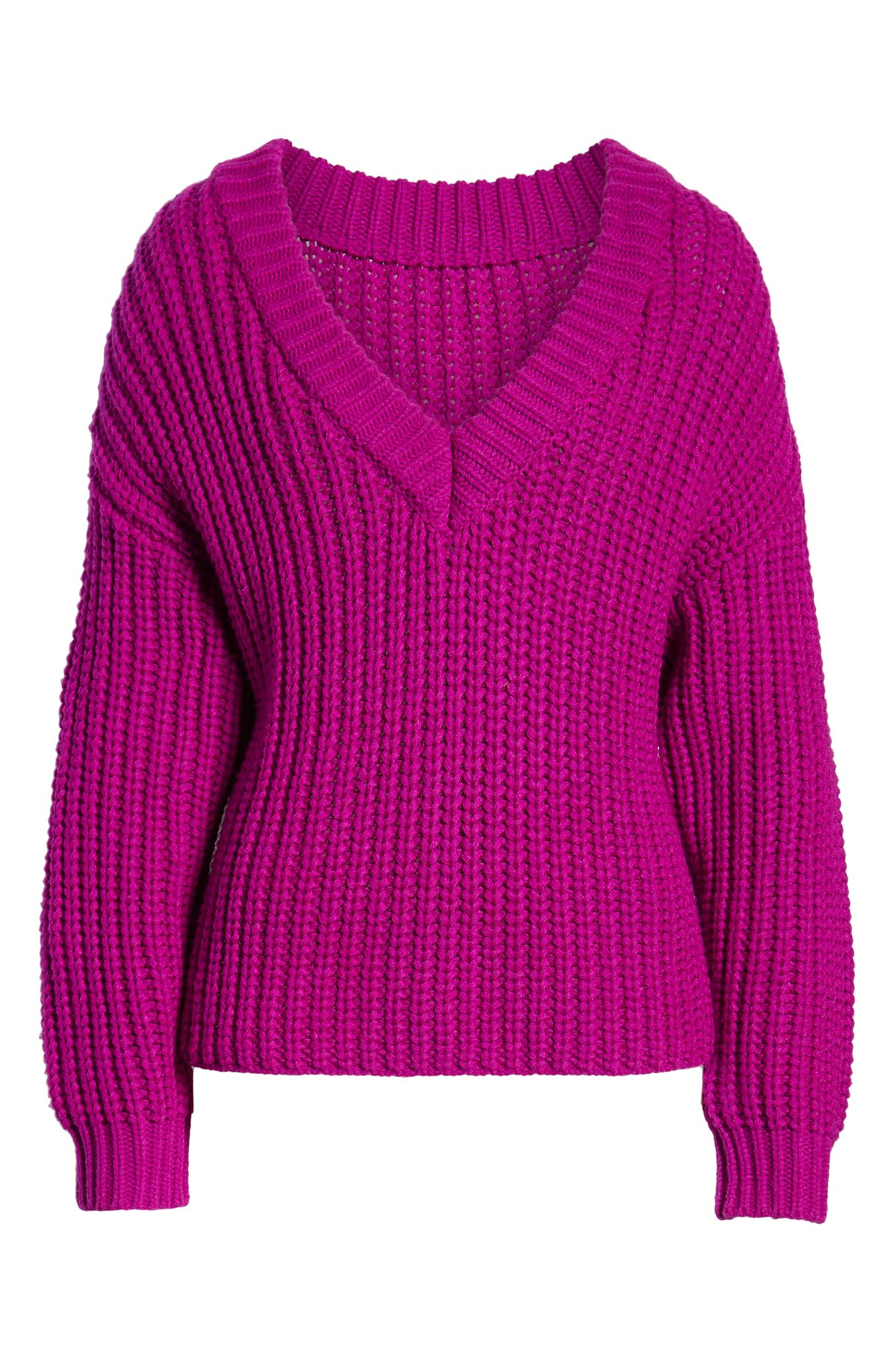 Topshop Chunky V-Neck Sweater (normally $68): NOW $44.90{ } (Image: Nordstrom){ }