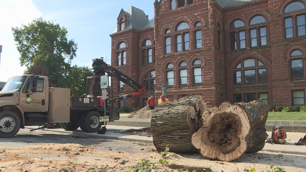 A piece of la porte county history cut down wsbt for Laporte courthouse