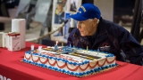 PHOTOS: Patriots Point surprises Yorktown vet, volunteer with 95th birthday party