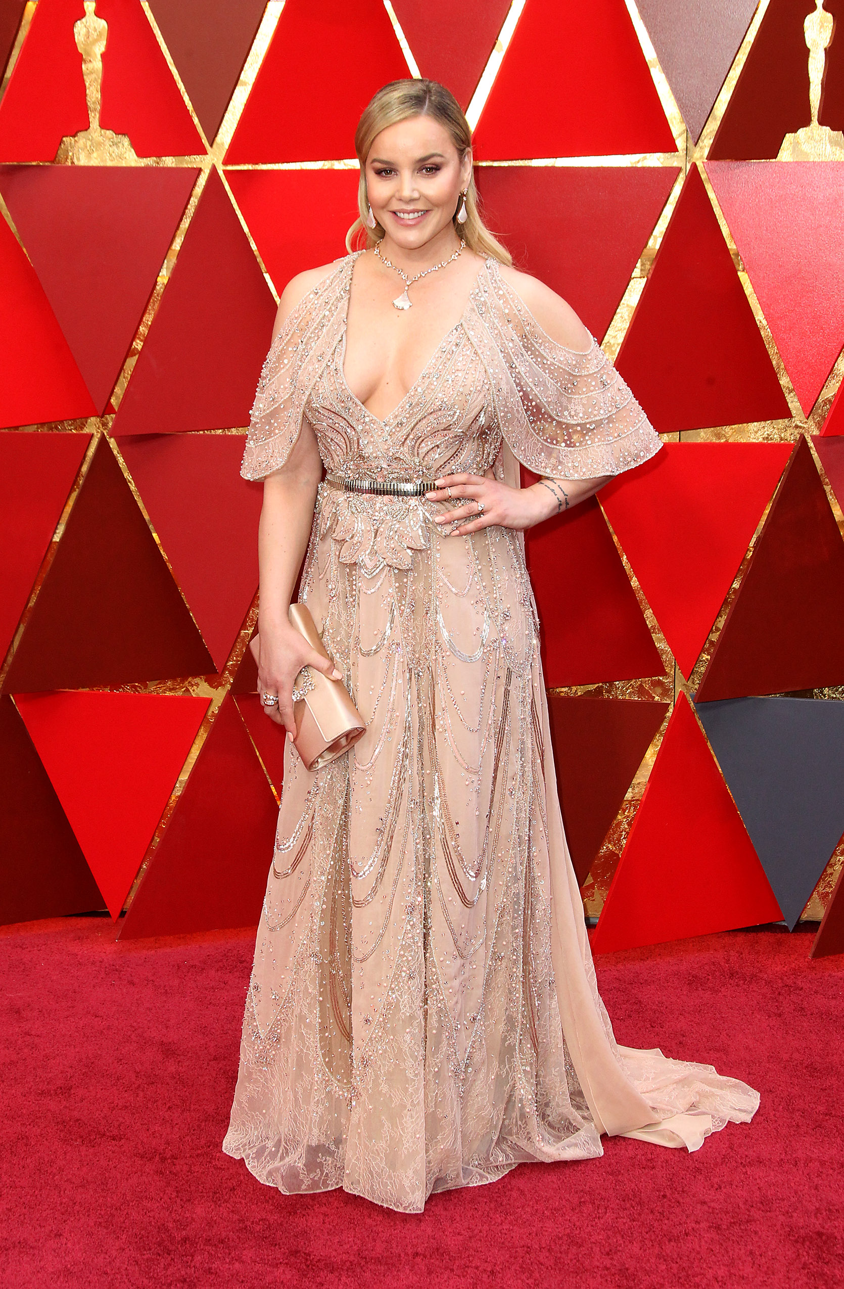 Abbie Cornish arrives at the 90th Annual Academy Awards (Oscars) held at the Dolby Theater in Hollywood, California. (Image: Adriana M. Barraza/WENN.com)<p></p>