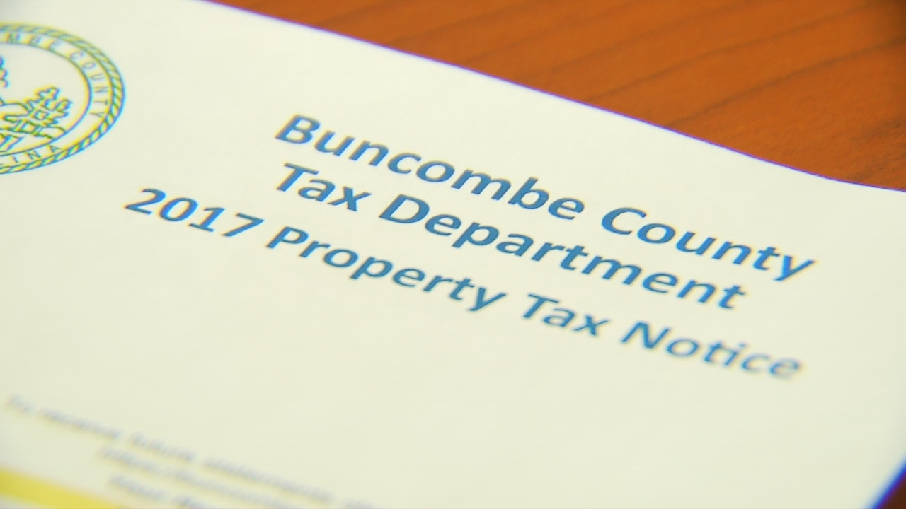 Property tax notices are hitting mailboxes and wallets this week in Buncombe County. The county's property values increased 28 percent in this year's reappraisal. (Photo credit: WLOS staff)