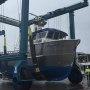 Tarheel Aluminum in Charleston launches first fishing boat since the '90s