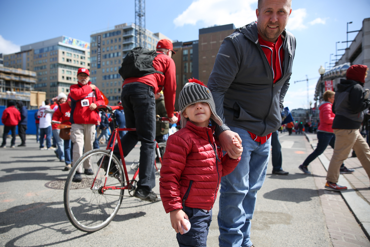 The Nats are back for another season and the fans showed up to support them during the home opener today. Here are just some of the fans that showed up to root for the home team. (Amanda Andrade-Rhoades/DC Refined)