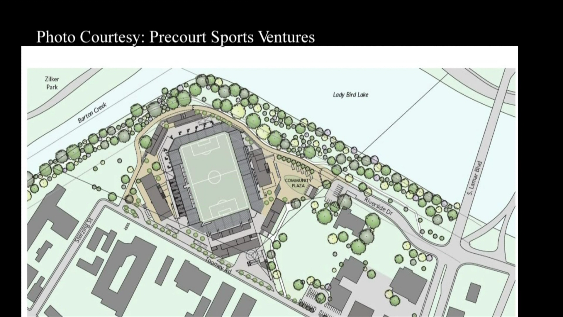 A Major League Soccer team owner is still eyeing Austin for their team's new home. Thursday they revealed a first look at potential downtown stadium. (Image courtesy: Precourt Sports Ventures)