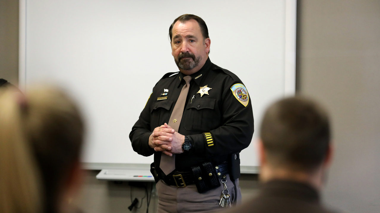 Dane County Sheriff Dave Mahoney, a former narcotics officer, says he would support automatically expunging marijuana conviction records if marijuana were decriminalized in Wisconsin. He is seen here at the Dane County Law Enforcement Training Center in Waunakee, Wis., on March 15, 2019.