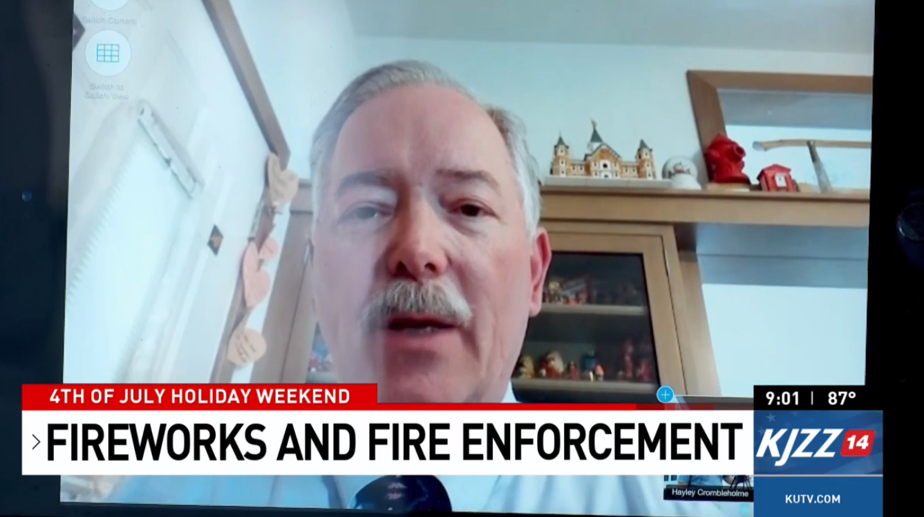 """We're headed to extreme fire danger. We're not quite there yet, but we probably will be in just a matter of days,"" said Coy Porter, the Utah state fire marshal. (Photo: KUTV)"