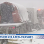 Semi collision during lake effect snow cause pileup on I-94 in Van Buren County