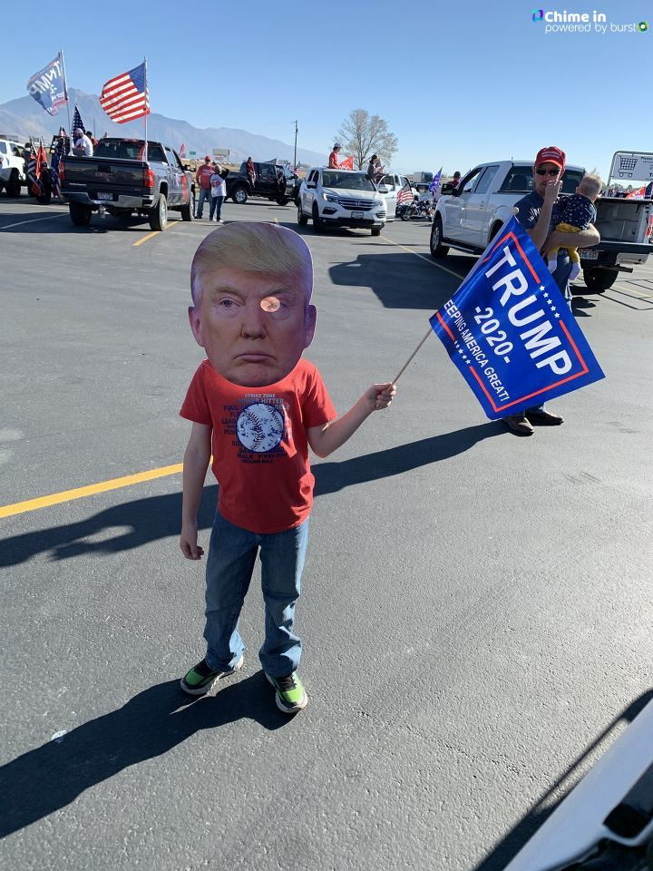 We participated in the Ogden Trump Train Sunday November 1. (Angela Daley)