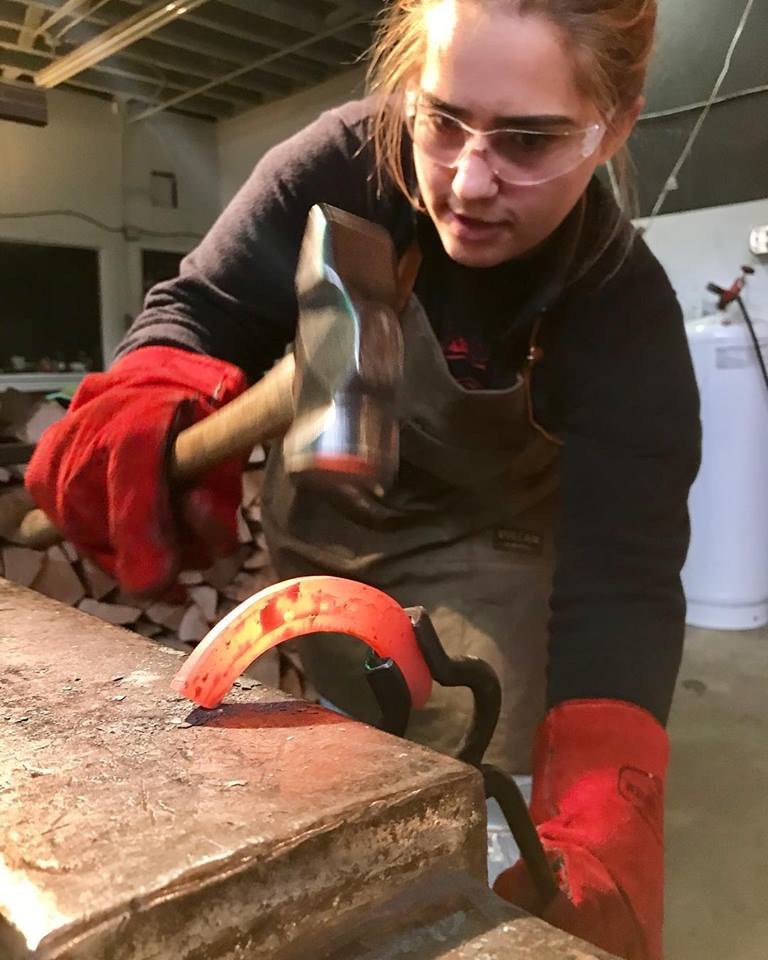 The old-world blacksmith studio in Seattle's SoDo neighborhood gives everyone the chance to pick up a hammer and turn hot steel into a finished product. (Image: Lawless Forge Facebook)